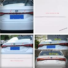 Yimaautotrims Rear Door Tailgate Tail Upper Strip Plate Protector Bezel Cover Trim Chromium Styling Fit For Toyota Avalon 2019