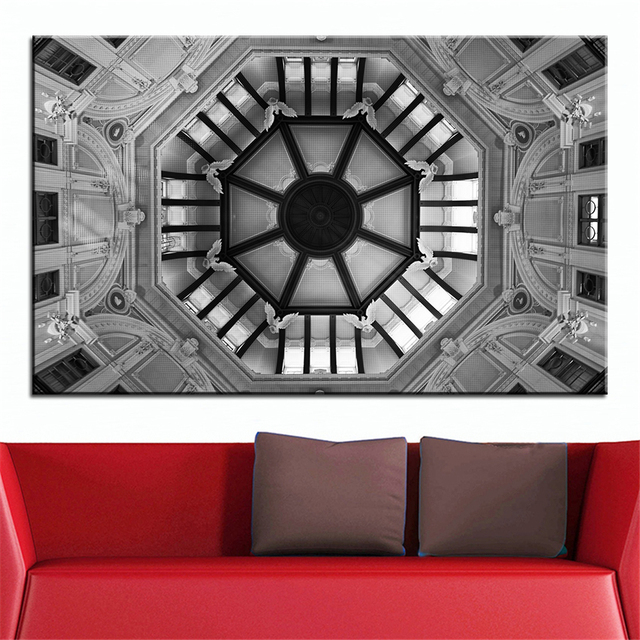 Grande Taille Impression Peinture À Lu0027huile Octogonale Plafond Mur Peinture  Décor Wall Art Image