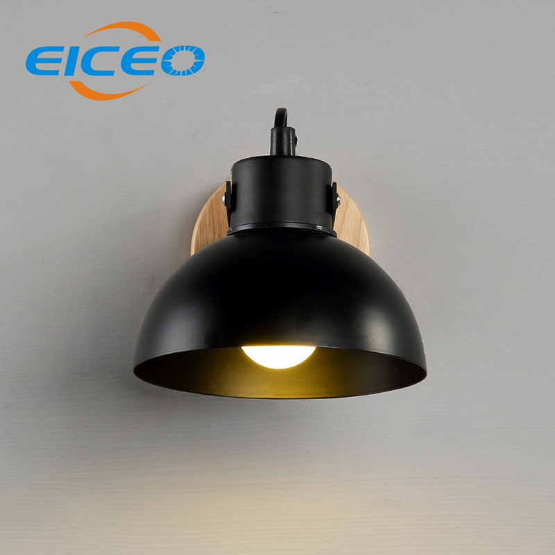 ФОТО (EICEO) American Creative Modern Minimalist Style Solid Wood Bedroom Lamp Aisle Stairs LED Bedside Lamp Wall Lamp AC220V