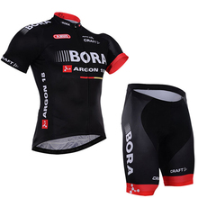 2017 Summer Team BORA ARGON 18 TEAM Ropa Ciclismo Short Sleeve Cycling Jersey Bike Bicycle mtb cycling clothes Set