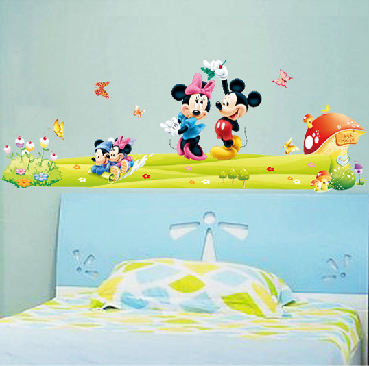 Mickey Minnie Mouse Family Wall Vinyl Sticker Baby Kids Room Poster  Wallpaper Wall Decal Art Stickers Part 83