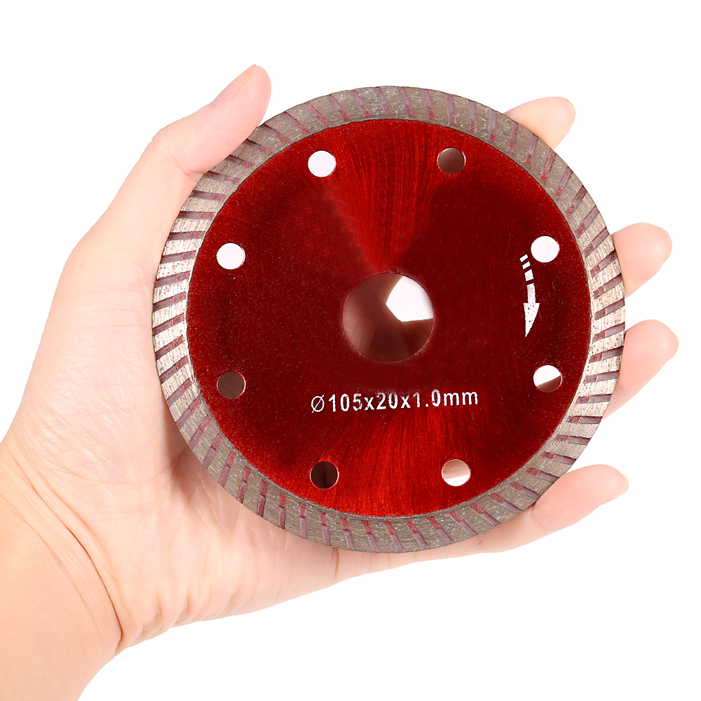 105*1.0*20mm Diamond Cutting Disc Saw Blade Continuous Turbo Diamond Blade With 8 Cooling Holes 20mm Inner HoleH52