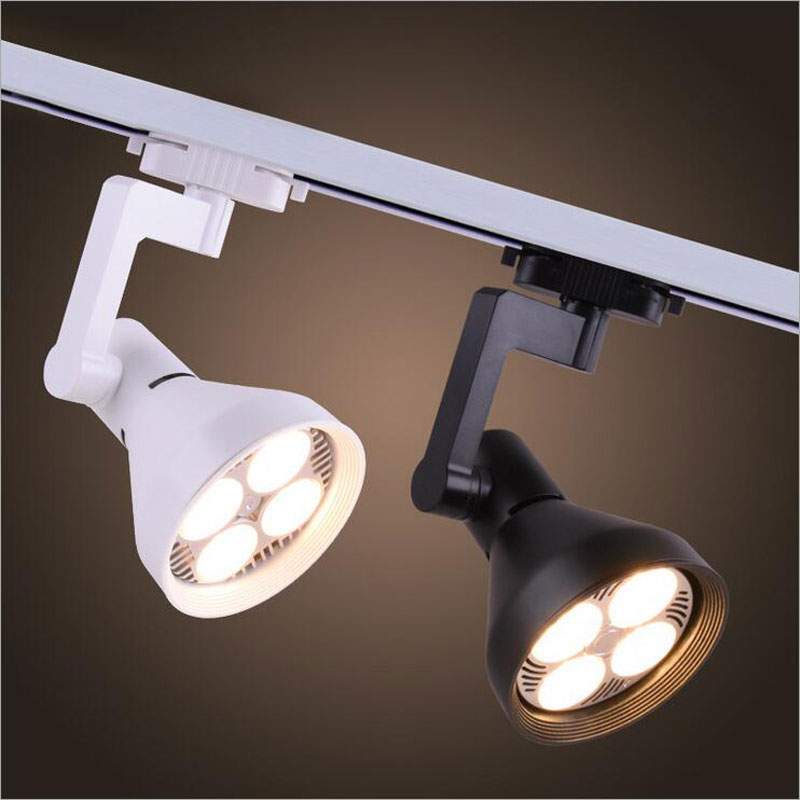 35W LED Track Light Super bright two-wire COB track spot lighting PAR30 for Clothing store exhibition hall 2pcs led track light50wled exhibition hall cob track light to shoot the light clothing store to shoot the light window