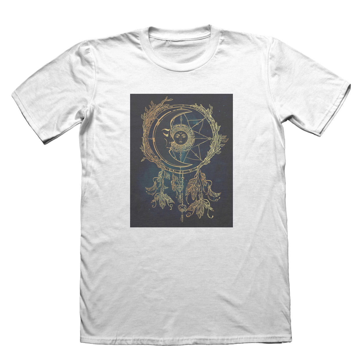 Sun Moon Dream Catcher T-Shirt - Mens Fathers Day Christmas Gift #7418