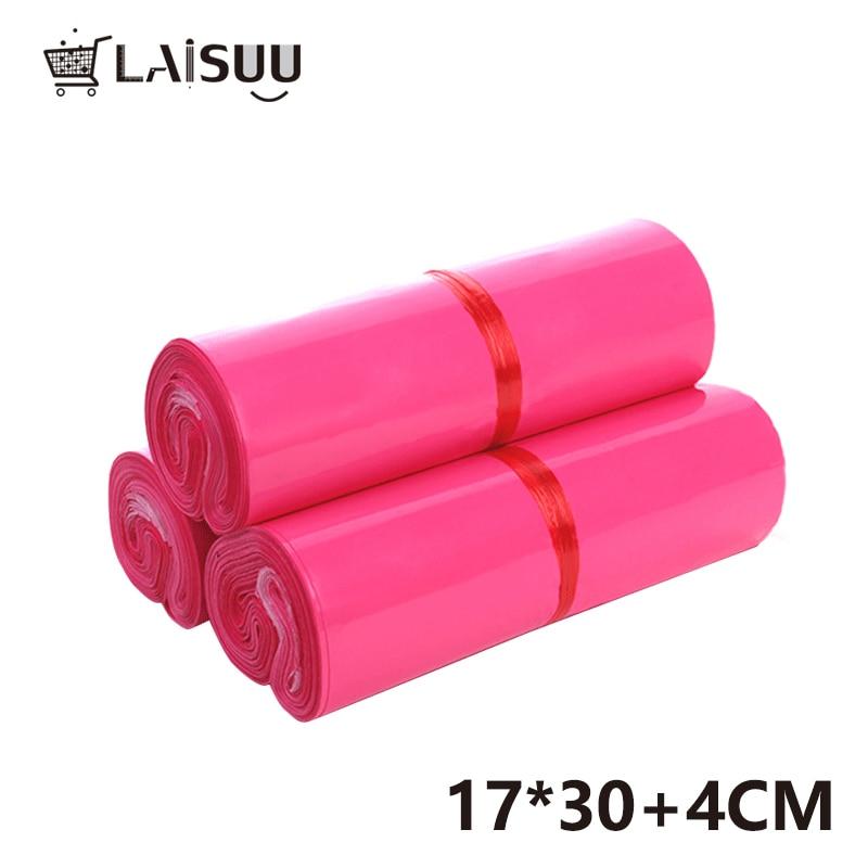 100pc 6.5*10inch/17*26cm High Quality Girl Pink Express Bag Waterproof Self Adhesive Bag Poly Mailer Envelope Gift Mailing Bag