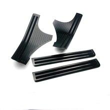 Автомобильные аксессуары Черная Нержавеющая педаль порога Накладка внутренняя Встроенная пороговая часть для Subaru Forester SK