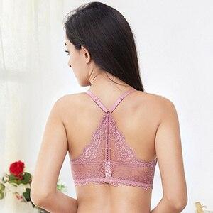 Image 3 - Varsbaby Women  Sexy Floral Lace Front Closure Underwear Y line Straps Bra Sets