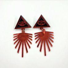 New Acrylic Tassel Eyes Earrings For Women Night Club Hip Hop Jewelry Accessories