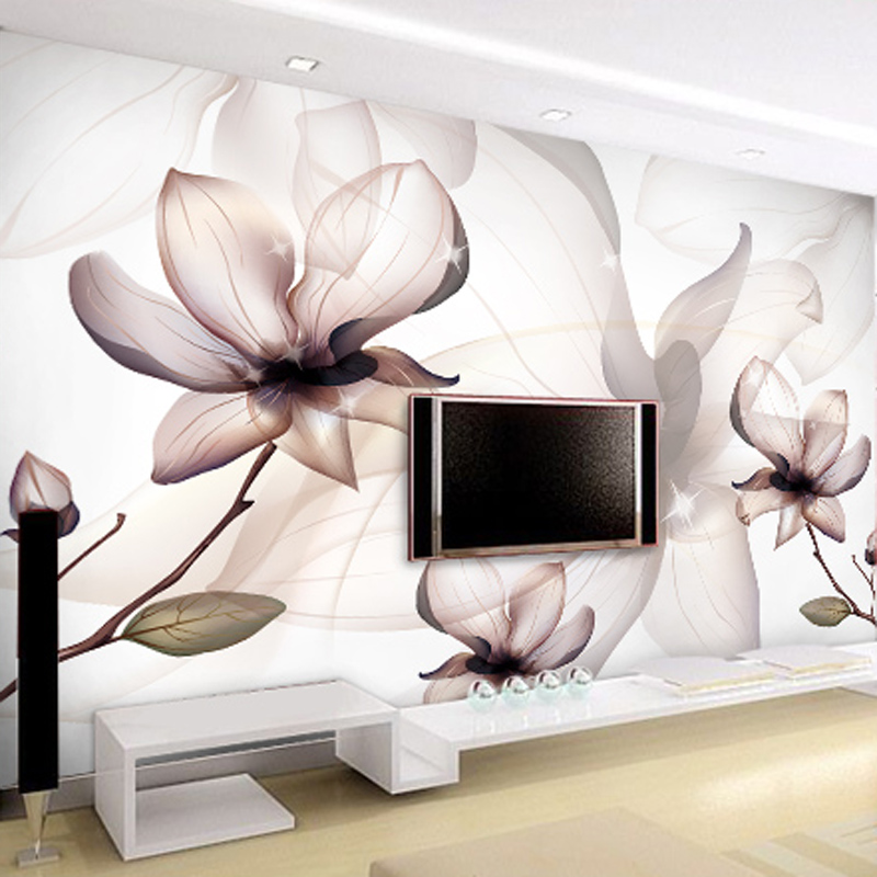 Benutzerdefinierte 3D Wallpaper Moderne Kunst Transparent Lotus ...