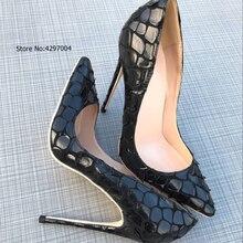 Vinapobo 12/10/8CM Women Stiletto High Heels Ladies Sexy Bla