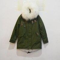 2016 индивидуальный дизайн 80 см Длина Длинная стильная закуски бисером парка с мехом, завод продажи odm/oem модный стиль зимние куртки