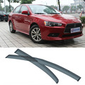 4pcs Blade Side Windows Deflectors Door Sun Visor Shield For Mitsubishi Lancer EX