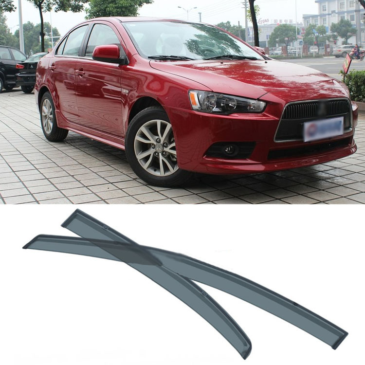 Jinke 4pcs Blade Side Windows Deflectors Door Sun Visor Shield For Mitsubishi Lancer EX jinke 4pcs blade side windows deflectors door sun visor shield for hyundai tucson 2013
