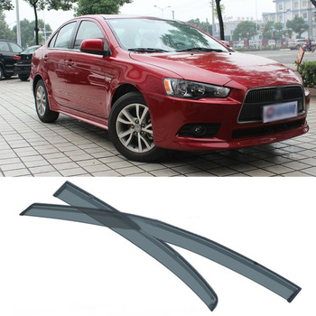 Jinke 4pcs Blade Side Windows Deflectors Door Sun Visor Shield For Mitsubishi Lancer EX