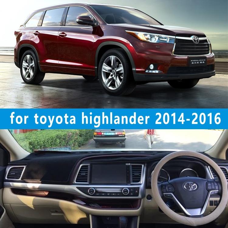 dashmats car-styling accessories dashboard cover for Toyota Highlander Kluger xu50 2014 2015 2016 2017 rhd
