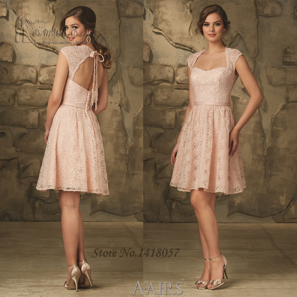 Aliexpress.com : Buy Modest Hot Pink Lace Bridesmaid Dresses with ...