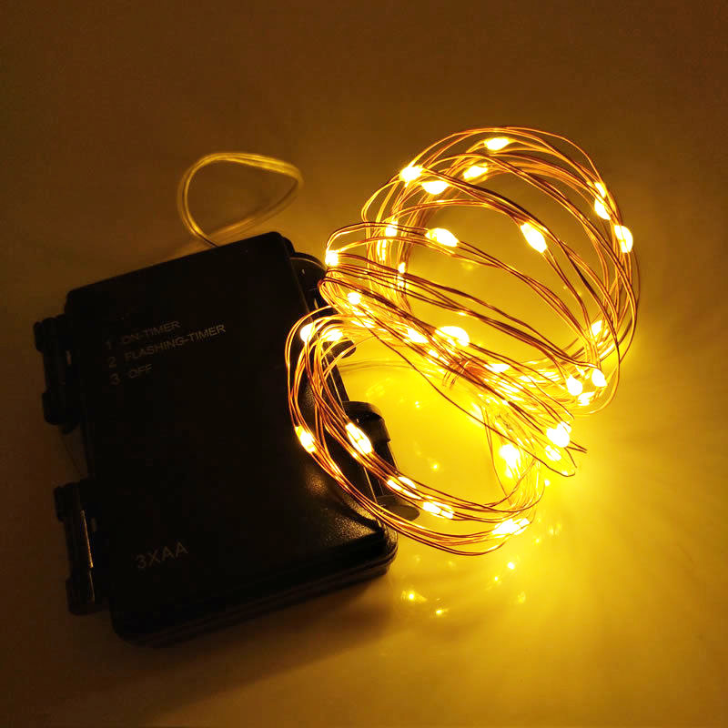 16.5FT 50LED Battery Operated Waterproof LED Fairy String Lights Indoor Outdoor Timer Christmas Lights Decorative LED Light