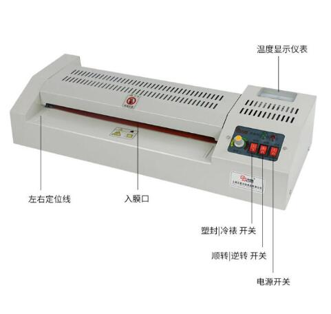 Metal Laminator Hot and Cold A3 Photo A4 Professional Level Adjustable Temperature Laminating Machine for Office/Home 4 Rollers a3 photo laminator office hot