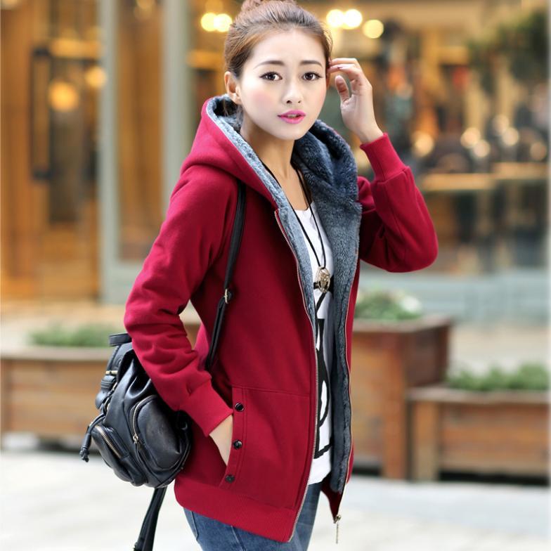 Grande taille XL-6XL (buste 51 pouces) femme manteau 2014New automne hiver femmes manteau coton chaud vestes femmes Sweatshirts