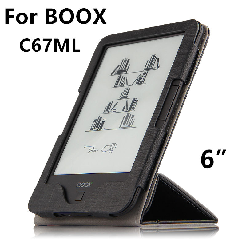 Case For BOOX C67ML PU Protective eBook Reader Smart Cover Protector leather For boox C67ML Carta C67ML Carta 2 Sleeve 6'' Cases купить