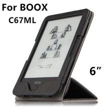 """Case para boox c67ml ebook reader protector elegante de la cubierta protectora de la pu Carta de cuero Para boox C67ML C67ML Carta 2 de La Manga 6 """"Casos"""