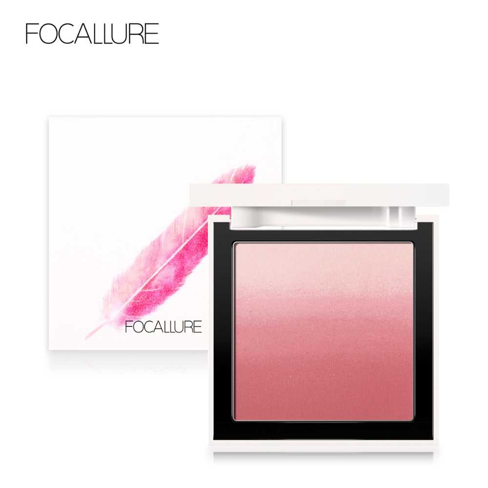 FOCALLURE Maquiagem Rosto blush Creme Sedoso alterador de cor Pó Blush de Longa-duração Ombre Natural Rosto Maquiagem À Prova D' Água
