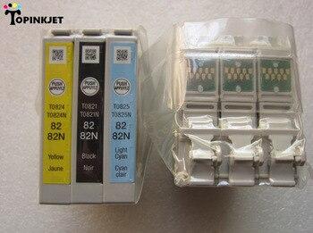 82N 6 kleur/set echt inktpatronen T0821N T0822N T0823N T0824N T0825N T0826N voor Epson T50 T59 TX700W TX800FW TX810FW