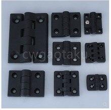 10 pçs/set dobradiça da bunda de plástico do nylon da cor preta para o ferragem do armário elétrico da caixa de madeira da mobília