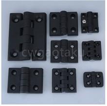10 unids/set bisagra de tope de plástico de nailon, Color negro, para caja de madera, muebles, Hardware de gabinete eléctrico