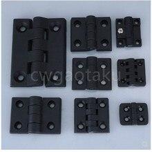 10 unids/set negro Color Nylon plástico bisagra de tope para caja de madera muebles accesorios del armario eléctrico
