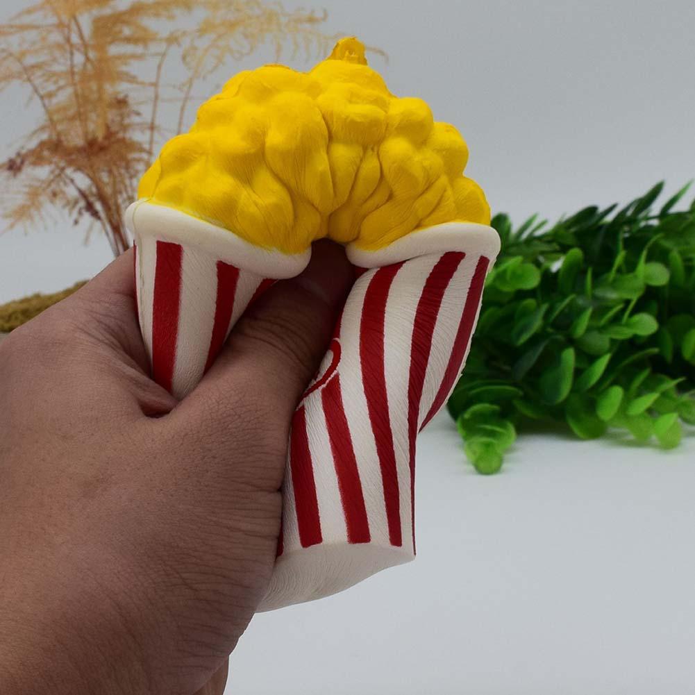 Original Cute Popcorn Jumbo Soft Slow Rising Squeeze Cream Scented Food Cake Bread Kid Toy Fun Gift