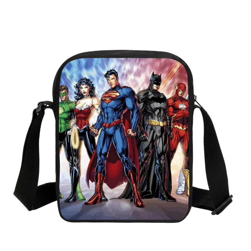 VEEVANV Batman Prints Boys Messenger Bags Fashion Super Hero Small Handbags Cartoon  School Satchel Shoulder Crossbody 464aa19ef81f0
