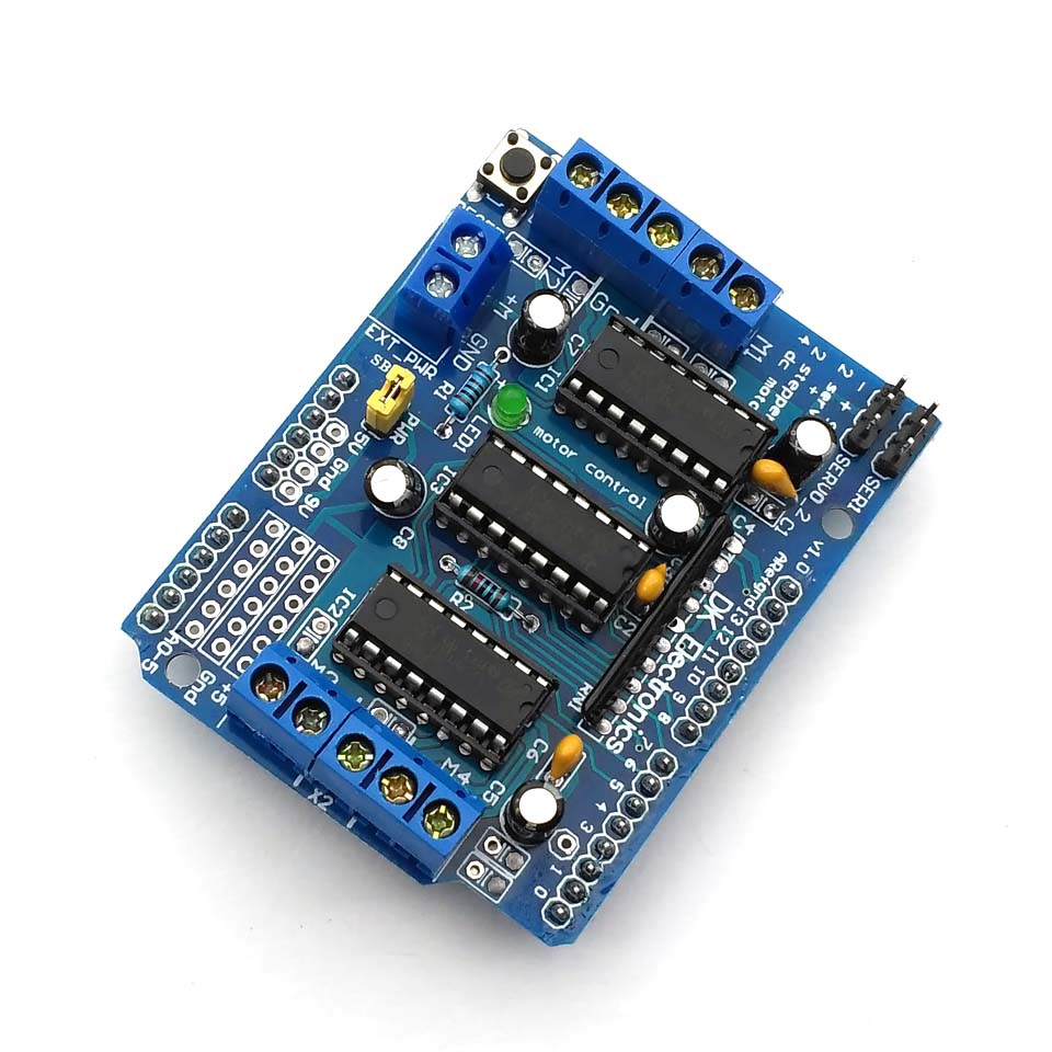 Buy L293d 4 Channel Stepper Motor Driver Board Circuit Drive Control Shield Module Expansion 45 36v Dc For Mega2560 From Reliable