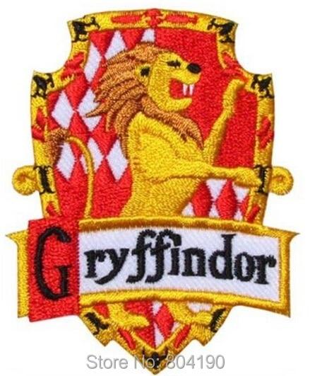 3 harry potter house gryffindor crest emblem tv movie embroidered robe iron on patch rock retro - Gryffondor blason ...