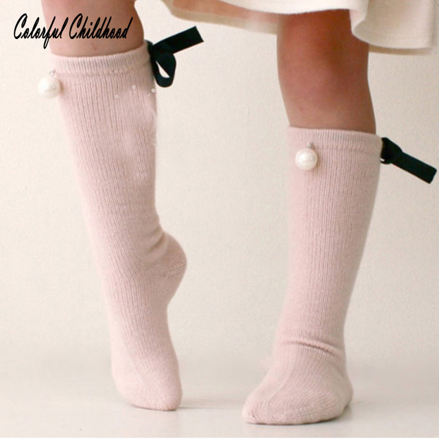 1dca451c2f72f Toddler Cute Baby Long Booties Kids Bow Knee High Socks Children Baby Girls  Long Socks with