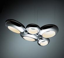 noovo design aura pendant lamp modern suspension lighting hanging light chrome copper color 3 heads 5 heads led