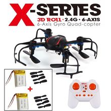 Free Shipping!MJX X902 RC Quadcopter Mini Helicopter 3D Flip Drone w/Extra 2 Battery+2 Blades