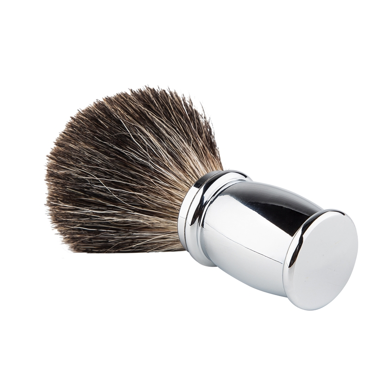 Badger Hair Men Shaving Brush Metal Badger Shaver Brush Silvertip Brushes Men Razor Pencil Beard Brush Pincers