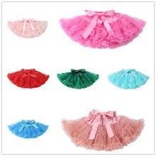 Однотонная плиссированная пушистая юбка-пачка с рюшами для девочек, юбка-американка, милые вечерние летние платья для танцев