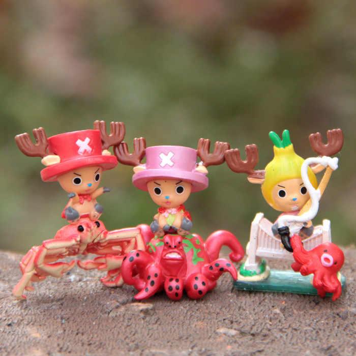 3.7-4.1 cm one piece tony chopper onepiece paisagem decoração enfeites de boneca modelo diy action figure modelo coleção toy presente