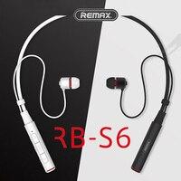 Remax S6 Bluetooth 4 1 Sports Neckband Bluetooth Headset Wireless Stereo Earphone Music Headphone HD Mic