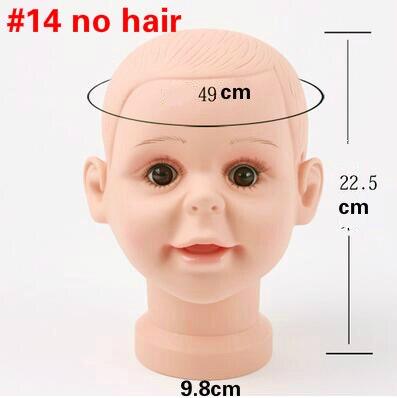 1 pz Bambini ragazzo modello di Testa circonferenza 49 cm mostra ... 3ef2e93905bc