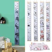 Скандинавский стиль мультфильм животных детей высота измерительная линейка настенный график роста детей украшение домашнего стола для детей мальчиков и девочек