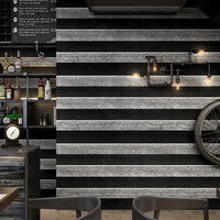 3d solid retro black white stripes wallpaper modern minimalist hair salon clothing hairdressing barber shop background wallpaper