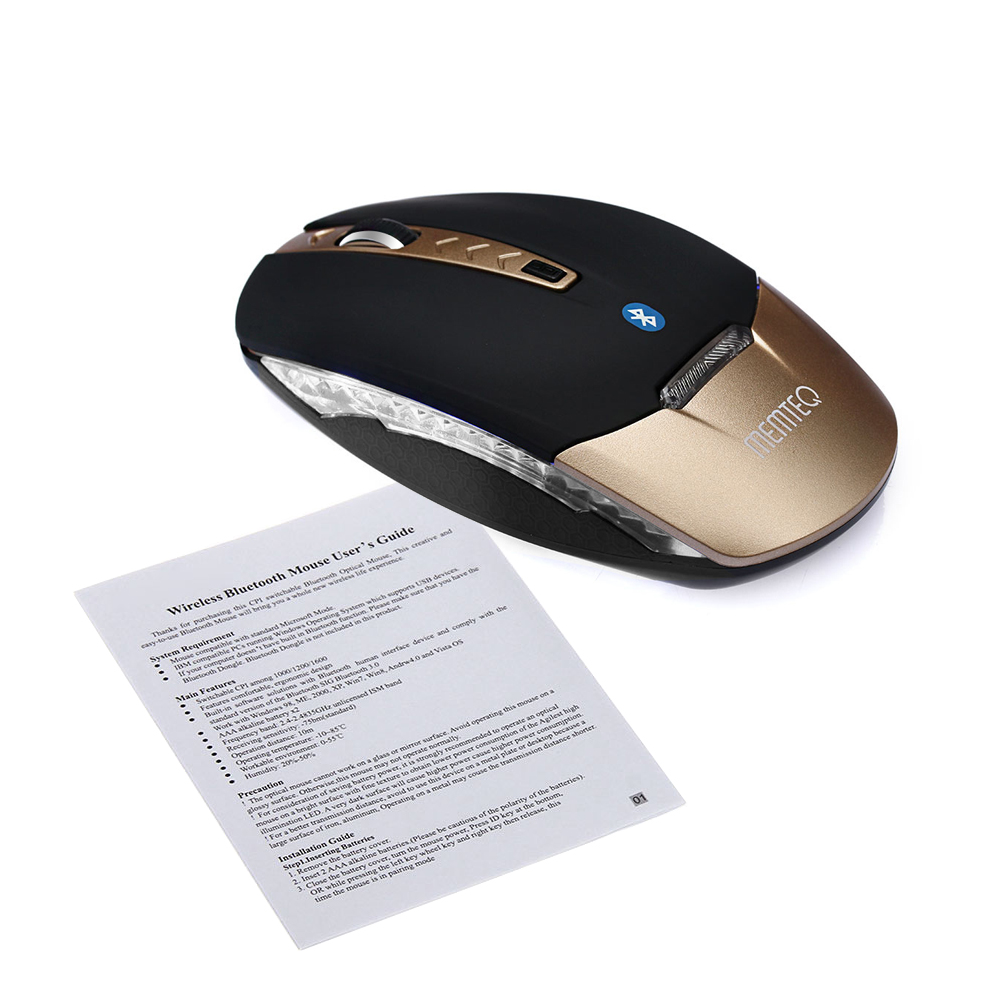 aaf03af197e MEMTEQ Bluetooth Mouse Wireless Gaming Ergonomic Mouse Optical Mice 1600DPI  For PC Laptop Computer Games Pro Gamer High Quality-in Mice from Computer  ...