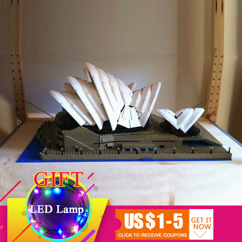 17003 2989Pcs City Series Sydney Opera House set Model Building Kits Blocks Compatible with 10234 toys lepin lepin 17003 2989pcs sydney opera house model building kits blocks bricks toys compatible legoed 10222