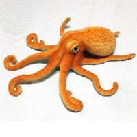 80CM Simulation Animal Lifelike Octopus Plush Toy Throw Pillow Creative Stuffed Lucky Fish Ocean Animal Doll