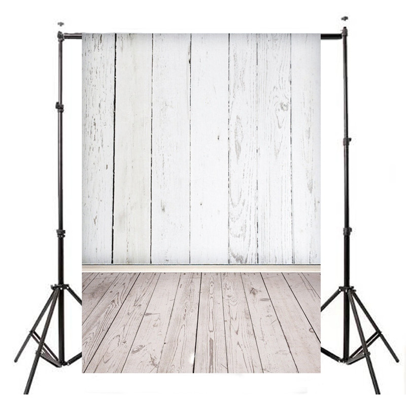 5X7 FT Vinyl WHITE WOOD Floor Photography Background Studio Photo Prop photographic Backdrop cloth waterproof 210cm x 150cm 8x8ft black white stripes wall custom vinyl photography background studio photo prop photographic backdrop 2 4m x 2 4m