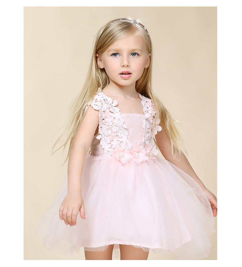 Fashion New Wedding Flower Girl Tulle Dress Princess Dresses With Petal Party Bridesmaid Girls Clothes Kids Children Vestido 2-6 2017 new girls dresses for party and wedding baby girl princess dress costume vestido children clothing black white 2t 3t 4t 5t