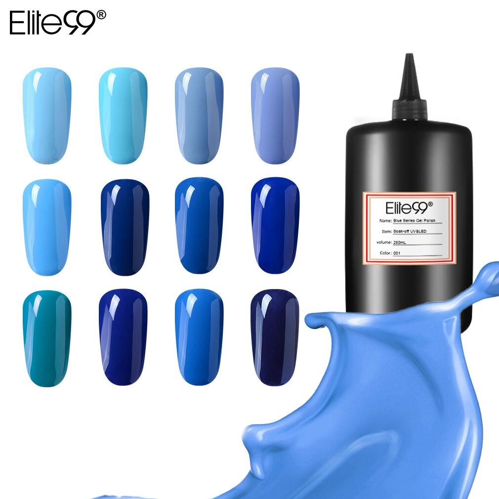 Elite99 250 ml Bleu Couleur Gel Polish Tout Pour la Manucure Semi Permanent UV Gel Vernis faire tremper au large nail art Manucure Gel vernis à ongles